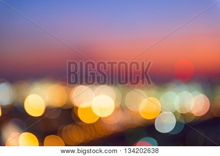 Abstract blurred lights background Abstract blurred bokeh backgroundNight city.