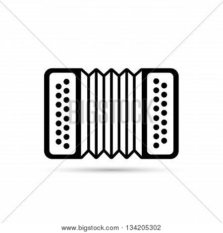 Accordion flat icon isolated on background. Accordion vector logo illustration