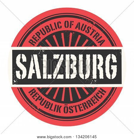 Grunge rubber stamp with the text Republic of Austria, Salzburg, vector illustration