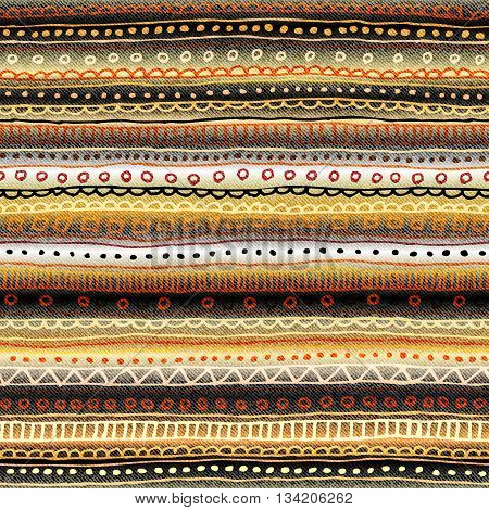 Abstract seamless vector tribal ethnic background pattern of strips