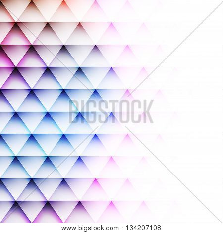 White blank background for text, geometric pattern of triangles