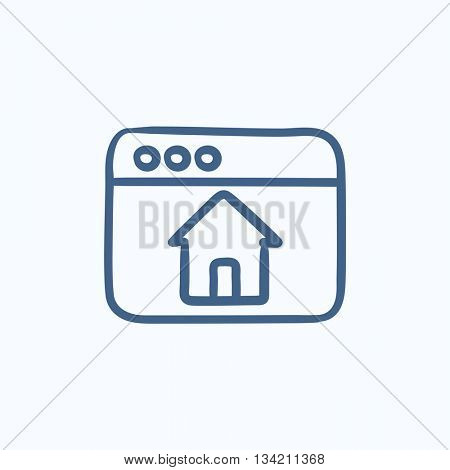 Homepage vector sketch icon isolated on background. Hand drawn Homepage icon. Homepage sketch icon for infographic, website or app.