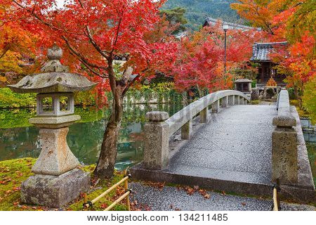 Colorful Autumn at Eikando Zenrinji Temple in Kyoto Japan