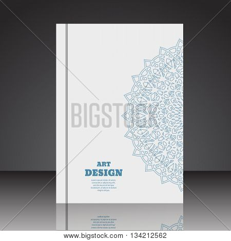 Abstract Geometric Composition Brochure Background A4 Eps10 Vector Illustration