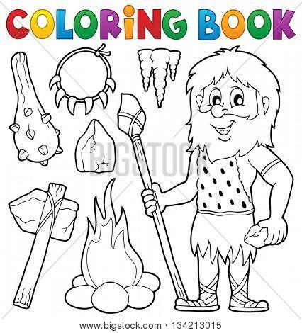 Coloring book prehistoric thematics 1 - eps10 vector illustration.