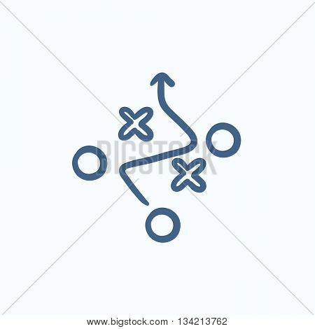 Tactical plan vector sketch icon isolated on background. Hand drawn Tactical plan icon. Tactical plan sketch icon for infographic, website or app.