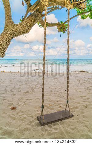 A swing on the beach