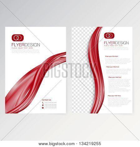 Vector template flyer design layout brochure newsletter