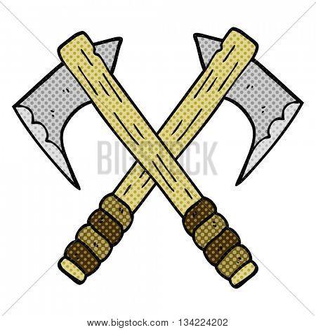 freehand drawn comic book style cartoon axes