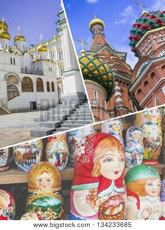 Collage Of Moscow (russia) Images - Travel Background (my Photos)