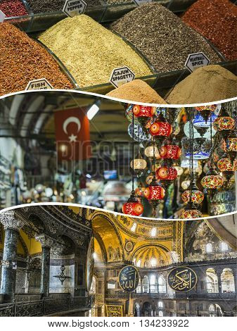 Collage Of Istanbul ( Turkey ) Images - Travel Background (my Photos)