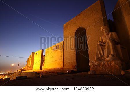 Arbil Castle in kurdistan, Arbil, north Iraq.