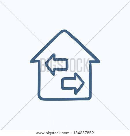 Property resale vector sketch icon isolated on background. Hand drawn Property resale icon. Property resale sketch icon for infographic, website or app.