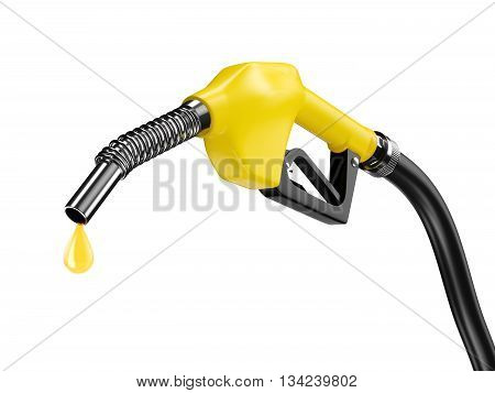 Yellow Fuel Pump Nozzle
