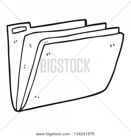 freehand drawn black and white cartoon business file