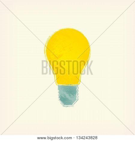 The icon of incandescent lamp. Idea, light.