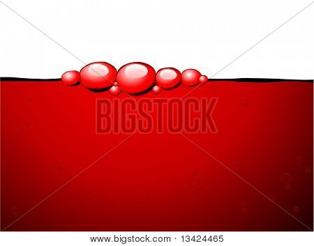 Red bubbles in the red wine