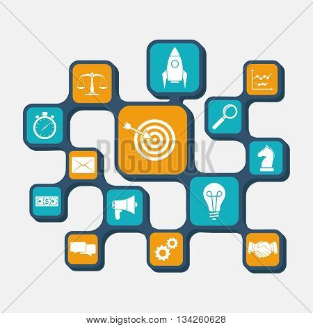 Business strategy concept. Strategy planning analysis development startup idea diagram. Strategy for successful business. Business infographic. Web banner template. Abstract background vector.