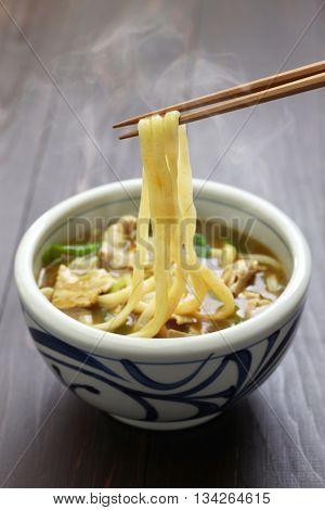 curry udon, japanese noodles soup dish