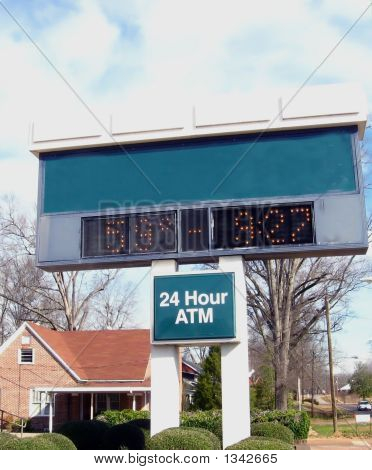 Bank Clock And Thrermometer