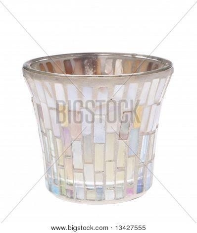 Opalescent Jar Candle Holder