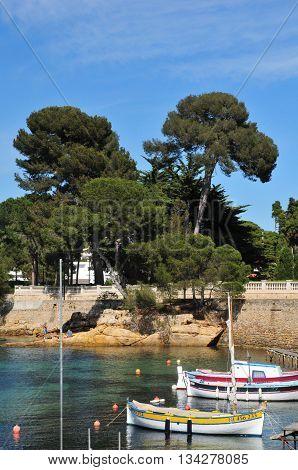 Antibes France - april 15 2016 : the seaside of Juan les Pins