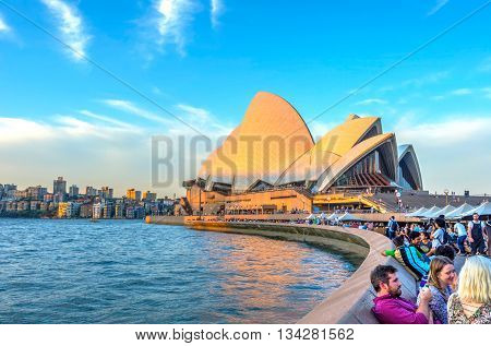 People By The Sydney Opera House