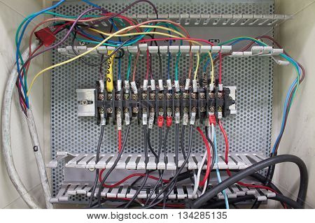 wire connector, Wiring -- Control panel with wires