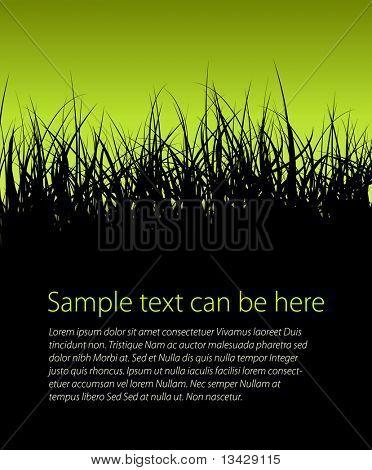 Zelený vektor sněhová vločka s místem pro váš text
