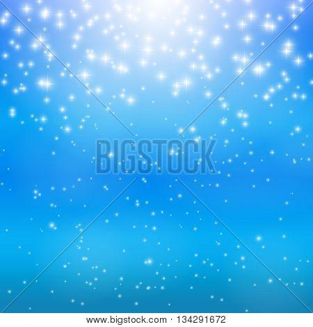 Colored Star Sky Vector Illustration Background EPS10