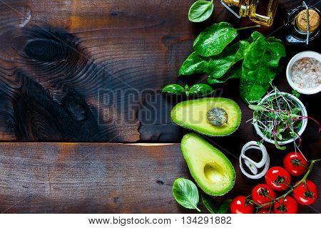 Fresh Ingredients For Salad