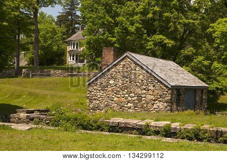 The old Grist Mill at the Waterloo Village in New Jersey