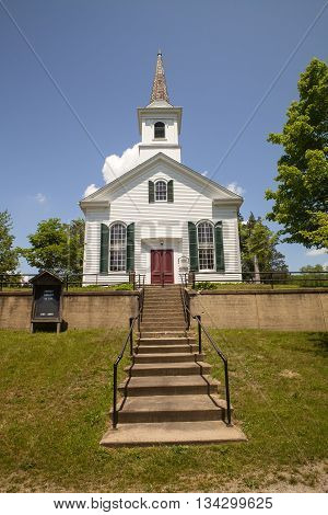 The church at the Waterloo Village in New Jersey