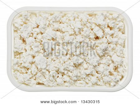 Cottage Cheese (curd) In Small Square Plate