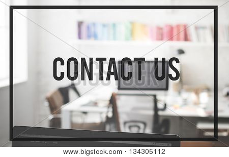Contact Us Enquiry Help Hotline Info Concept