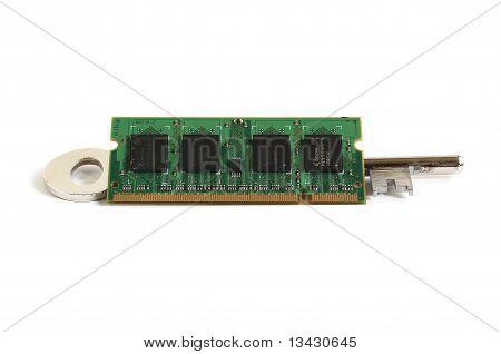 Computer Laptop Ram Memory Module On Key