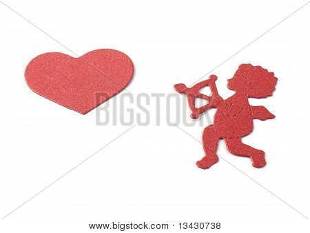 Cupid And Red Heart