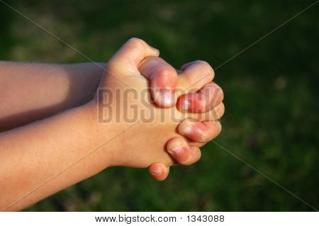 Praying Hands Of Child