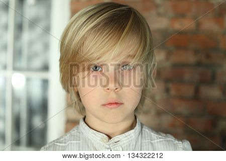 One Child boy looking - face close-up