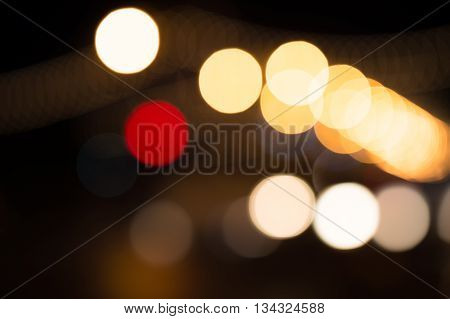 abstract bokeh light from tree in the park