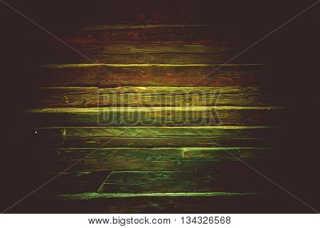 Old Reclaimed Wood Wall Photo Background. Dark Aged Logs Backdrop.