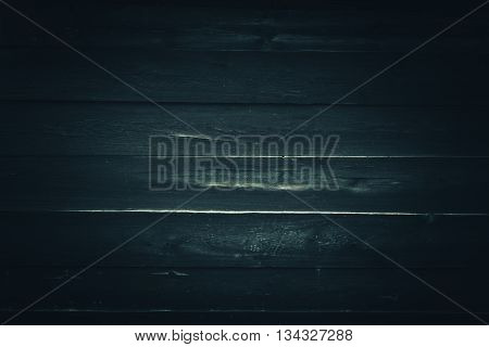 Old Rusty Wooden Background in Bluish Color Grading. Old Wooden Dark Blue Background.
