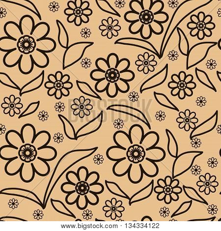 Floral abstract seamless pattern for decoration backgrounds