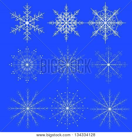 A set of fine snowflakes for decoration