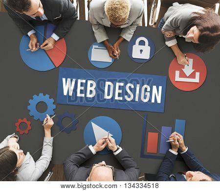 Web Design Website Technology Development Concept