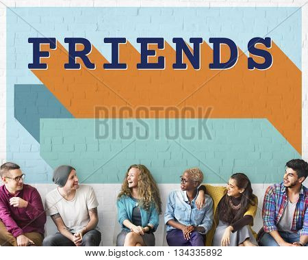 Friends Friendship Enjoyment Group Young Concept
