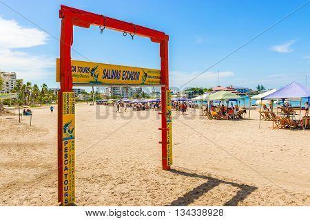 Playa De Chipipe In Salinas, Ecuador.