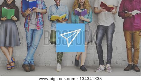 Paper Airplane Rocket Launce Growth Success Startup Concept