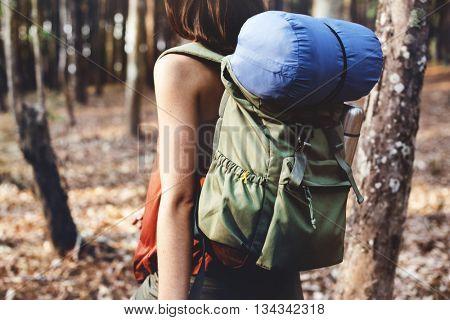 Backpacker Camping Trekking Wanderlust Leisure Concept