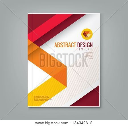 abstract red line design background template for business annual report book cover brochure flyer poster